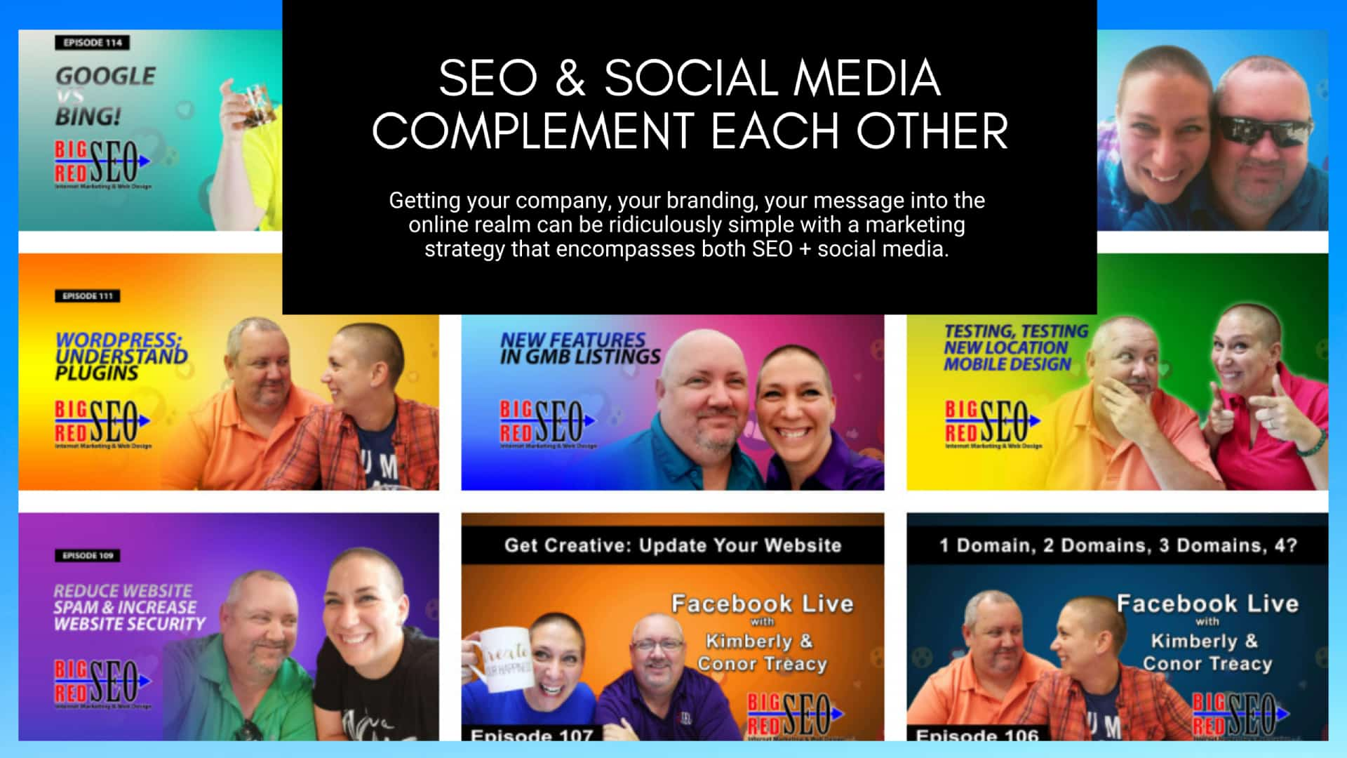 Big Red SEO YouTube videos on SEO services and website design