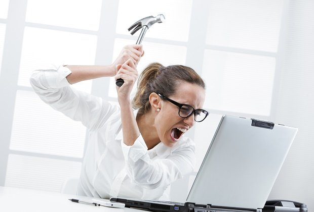 SEO Common Challenges Frustrated Computer