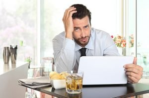 website design mistakes-unhappy business owner