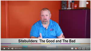 Video Session regarding Website Builders, why they're popular, and what to watch out for.