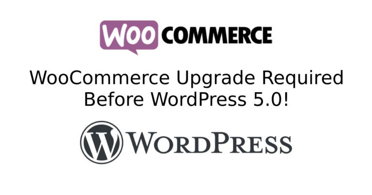 WooCommerce 3.5 and WordPress 5.0