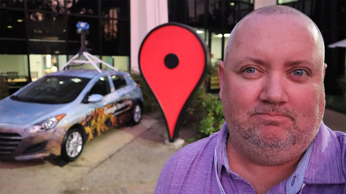 Conor at Google Headquarters in California - Local Maps Search Car