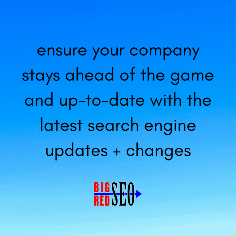 local seo requires companies to stay up to date with search engine changes and updates